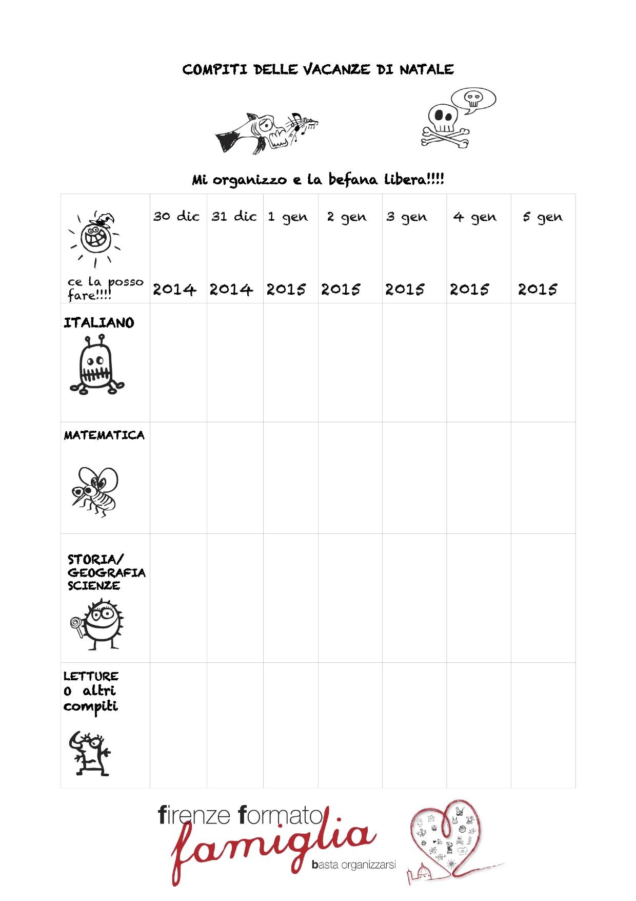 Top Compiti delle vacanze di Natale organizzarsi bene HM02