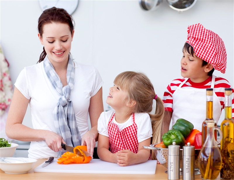 Cucinare con i bambini perché chi guarda, impara