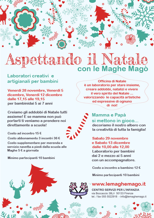 Estremamente Laboratori di Natale per bambini a Firenze UF95