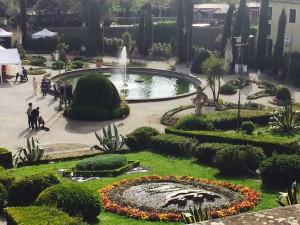 Storico giardino garzoni vista dall'alto