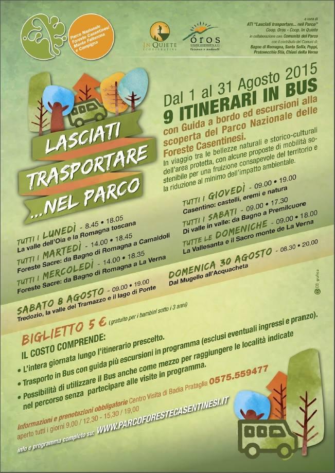 Itinerari in bus per scoprire in famiglia le foreste casentinesi