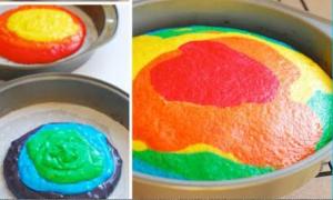 torta di carnevale colorata
