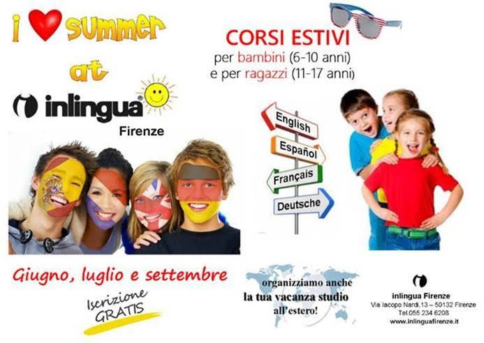 corsi di inglese estivi per ragazzi firenze