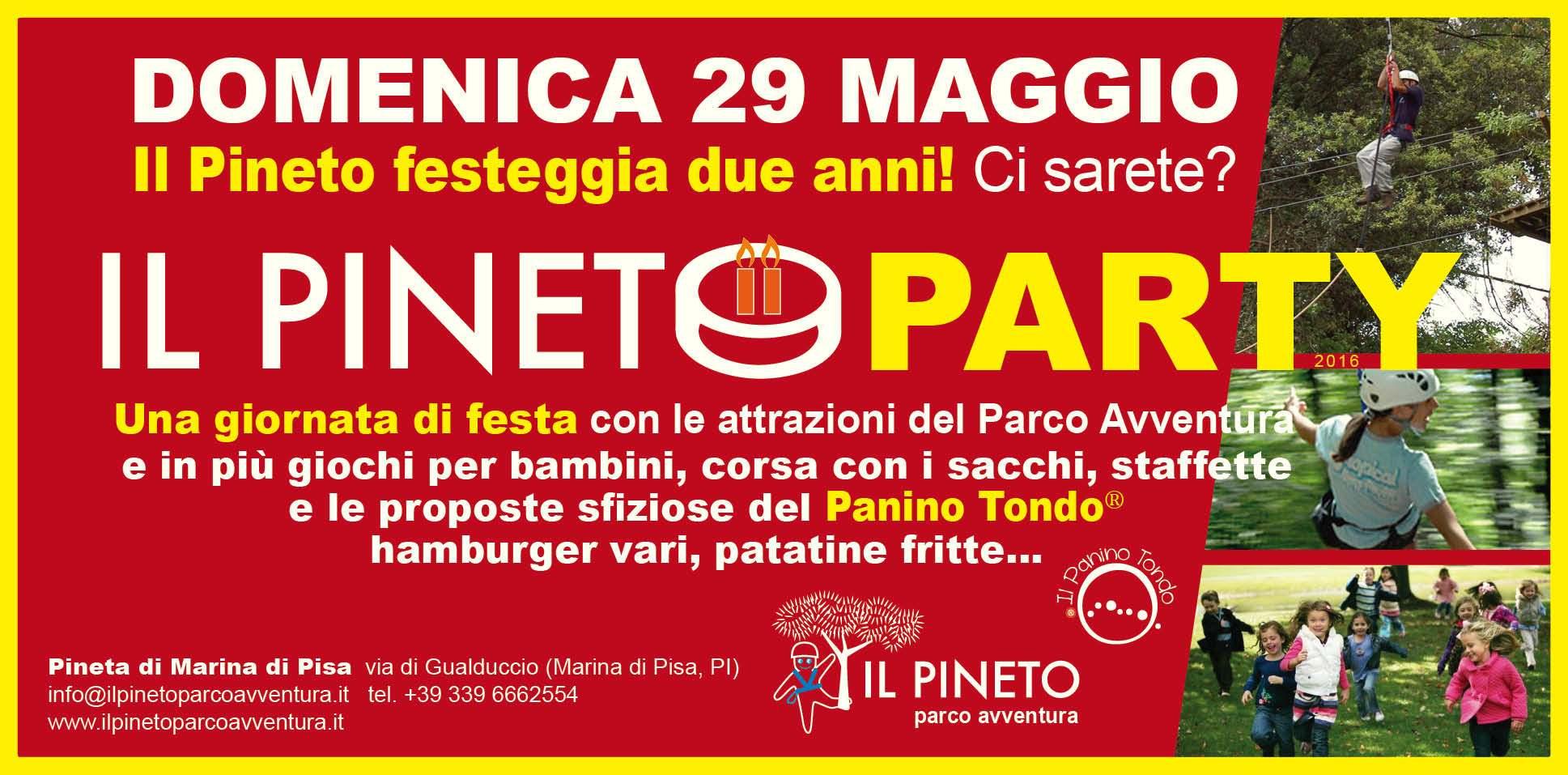Mega festa al Parco Avventura il Pineto che festeggia 2 anni