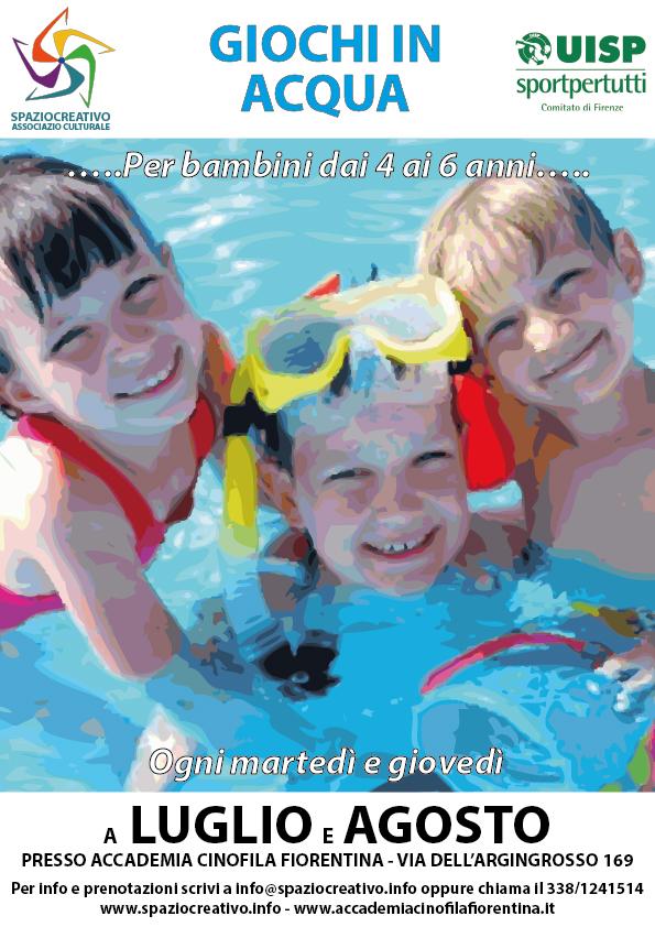 Luglio e Agosto di fuoco? A Firenze Giochi con l'acqua per bambini