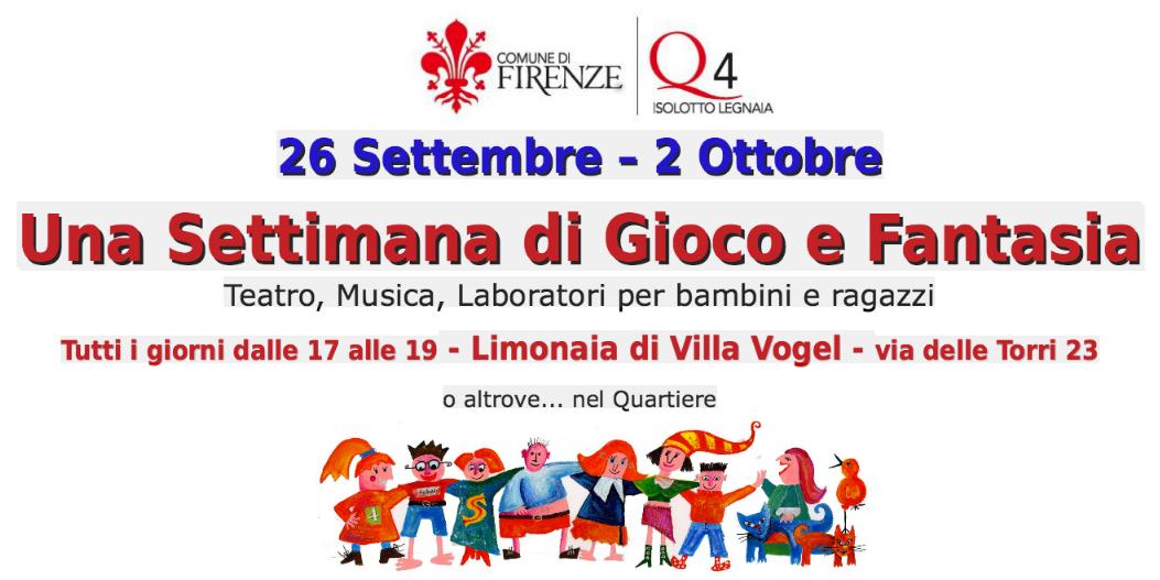 Una settimana di gioco e festa gratuiti alla Limonaia di Villa Vogel