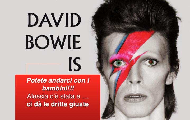 """Alla mostra """"Bowie is"""" con i figli al Museo MAMbo di Bologna"""