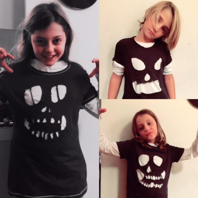 Costume di halloween fatto dai bambini