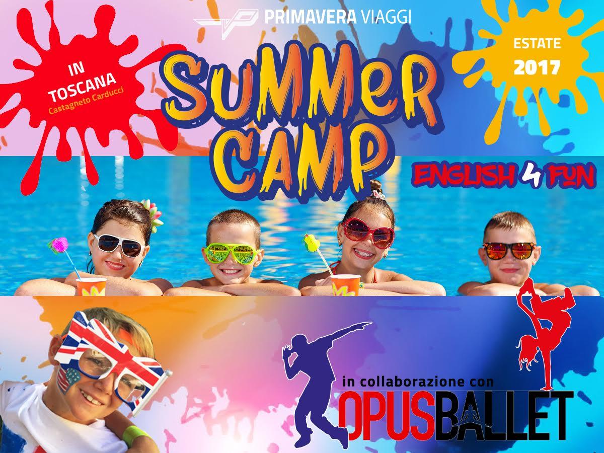 Campi estivi per ragazzi in inglese in Toscana 2017