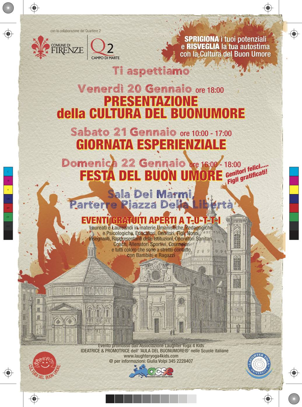 Fine settimana del buonumore Firenze 20-21-22 gennaio 2017