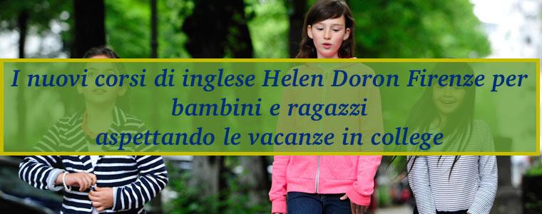 I nuovi corsi di inglese Helen Doron Firenze per bambini e ragazzi