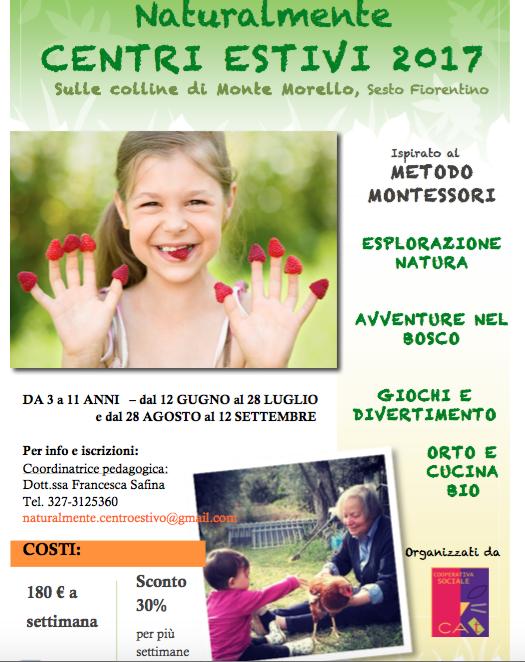 Centri estivi ispirati al metodo Montessori 2017 a Firenze