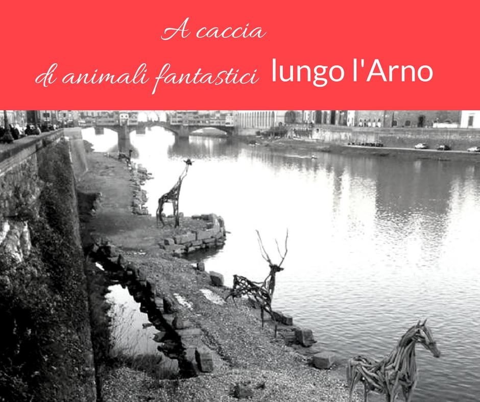 A caccia di animali fantastici lungo l'Arno