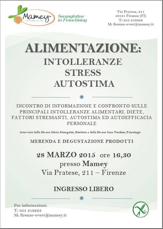 Intolleranze alimentari un incontro gratuito a Firenze