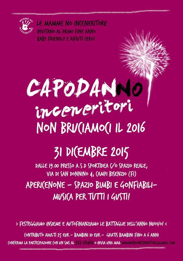 Capodanno 2015 con Mamme no Inceneritore festa kids friendly