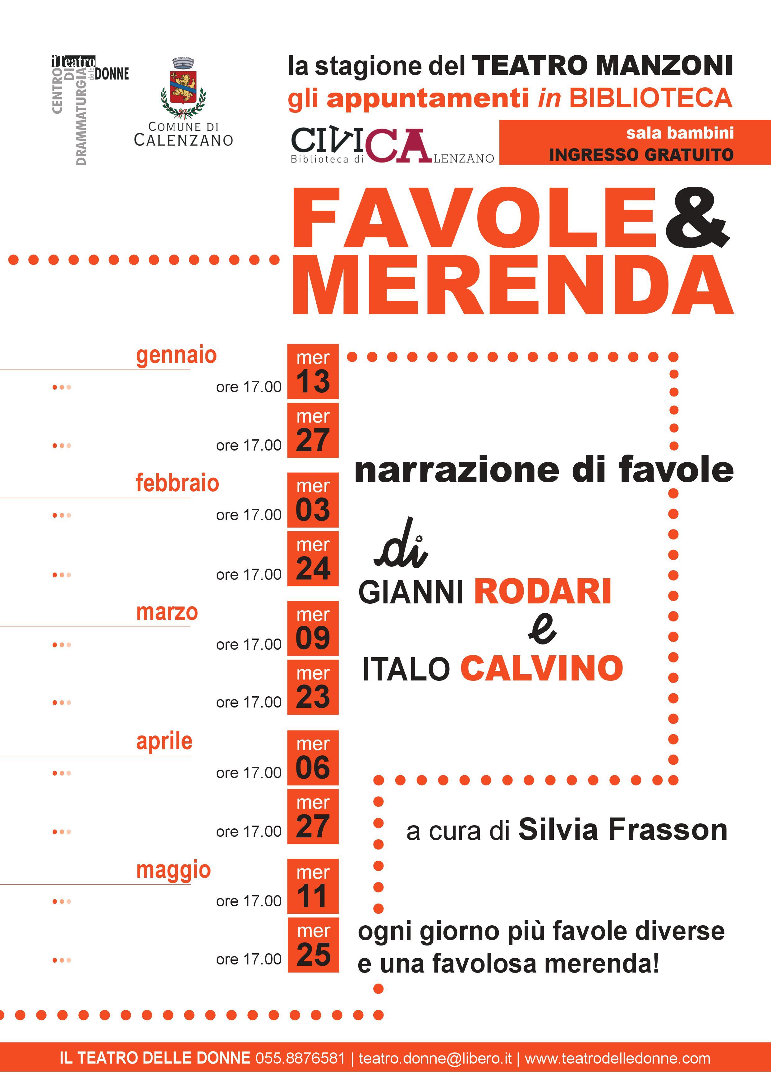 Favole e merenda in biblioteca a Calenzano