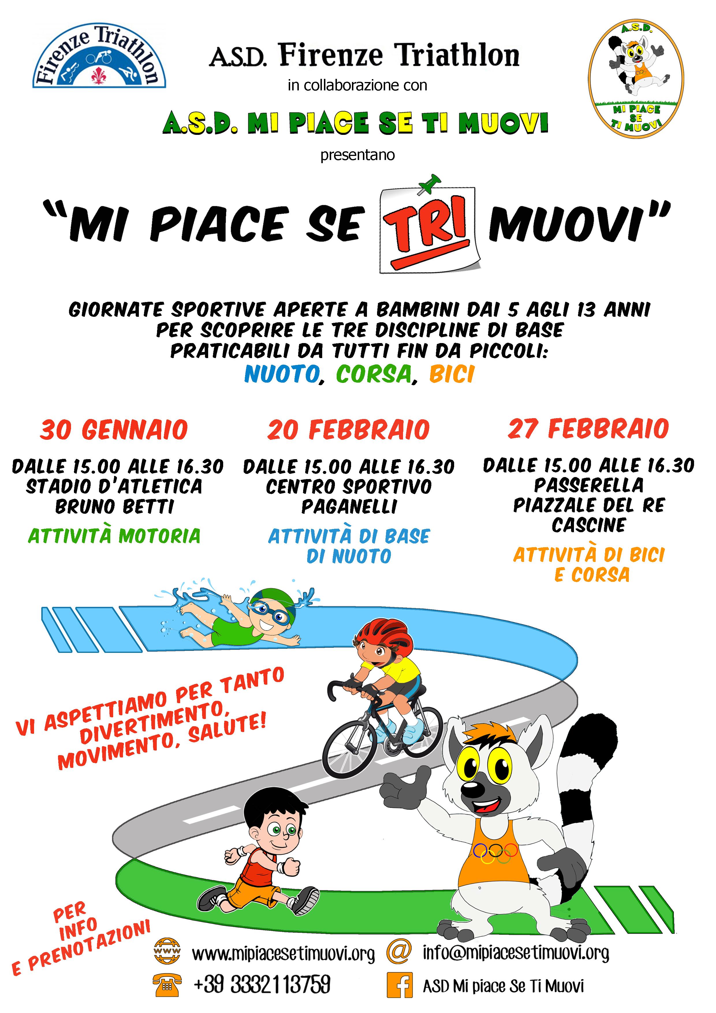 Triathlon per bambini Firenze con Mi piace se ti Muovi