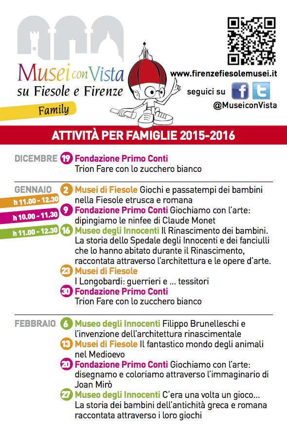 Al museo in famiglia da Fiesole a Firenze edizione 2016!!!