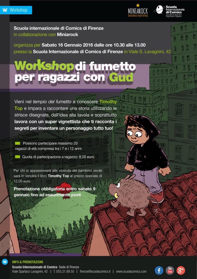 Incontro e corso di fumetto per bambini Firenze