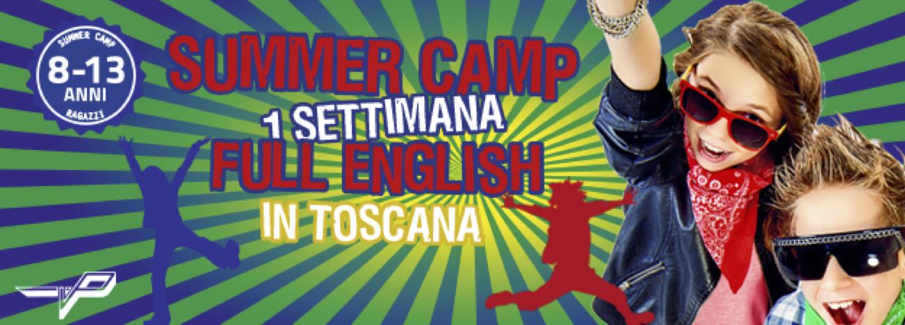 Campus estivo in inglese per ragazzi in Toscana