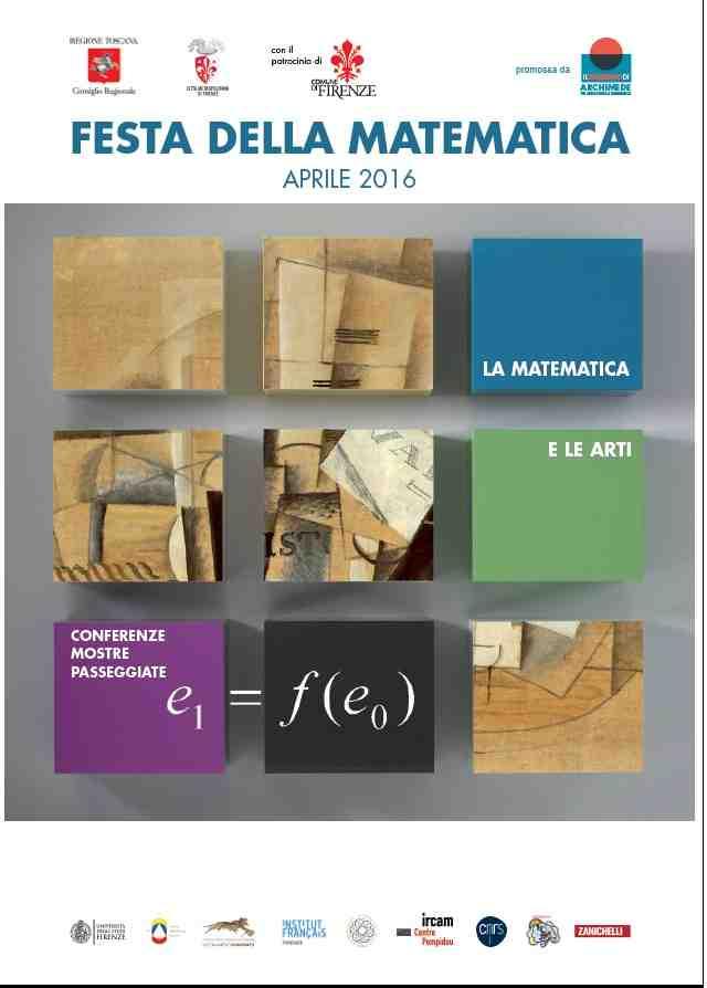 Dal 4 al 18 aprile festa della Matematica Firenze