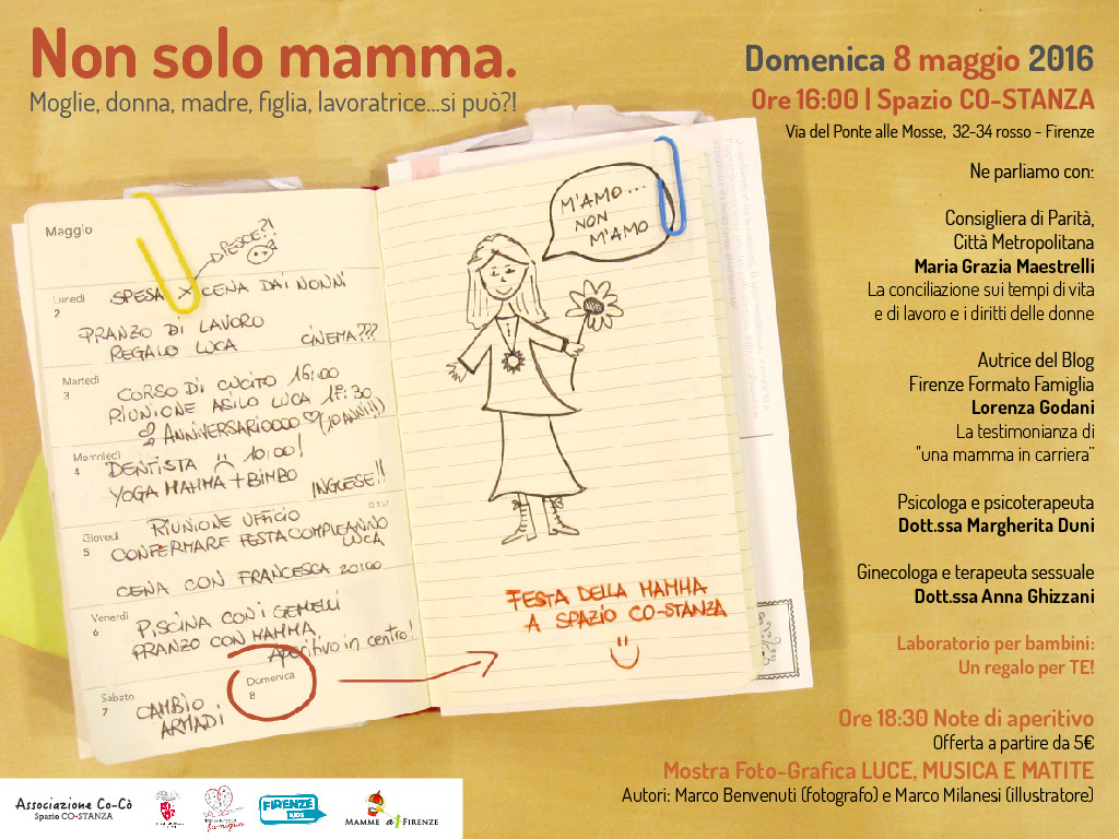 8 maggio festa della mamma Firenze voi che fate?