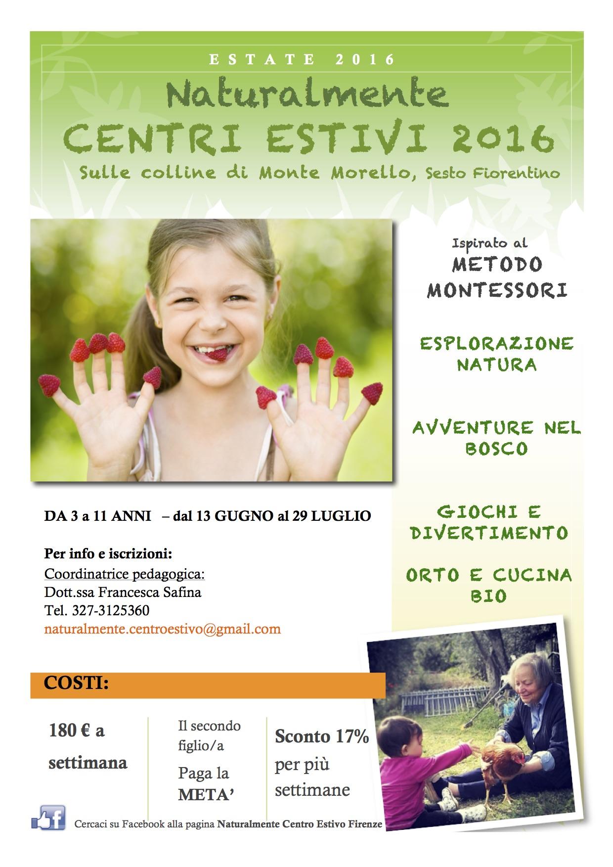 Centri estivi in campagna Firenze ispirati al metodo Montessori