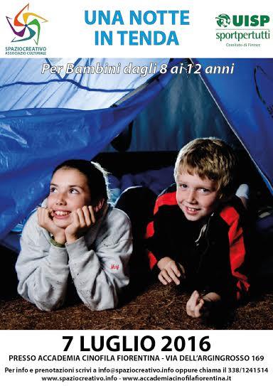 Una notte in tenda … a Firenze per bambini