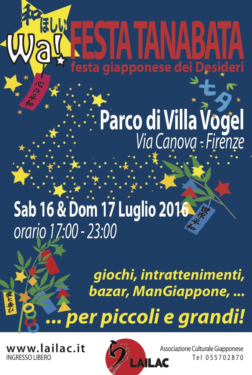 Tutti alla festa dei desideri giapponese Villa Vogel 16 e 17 luglio 2016