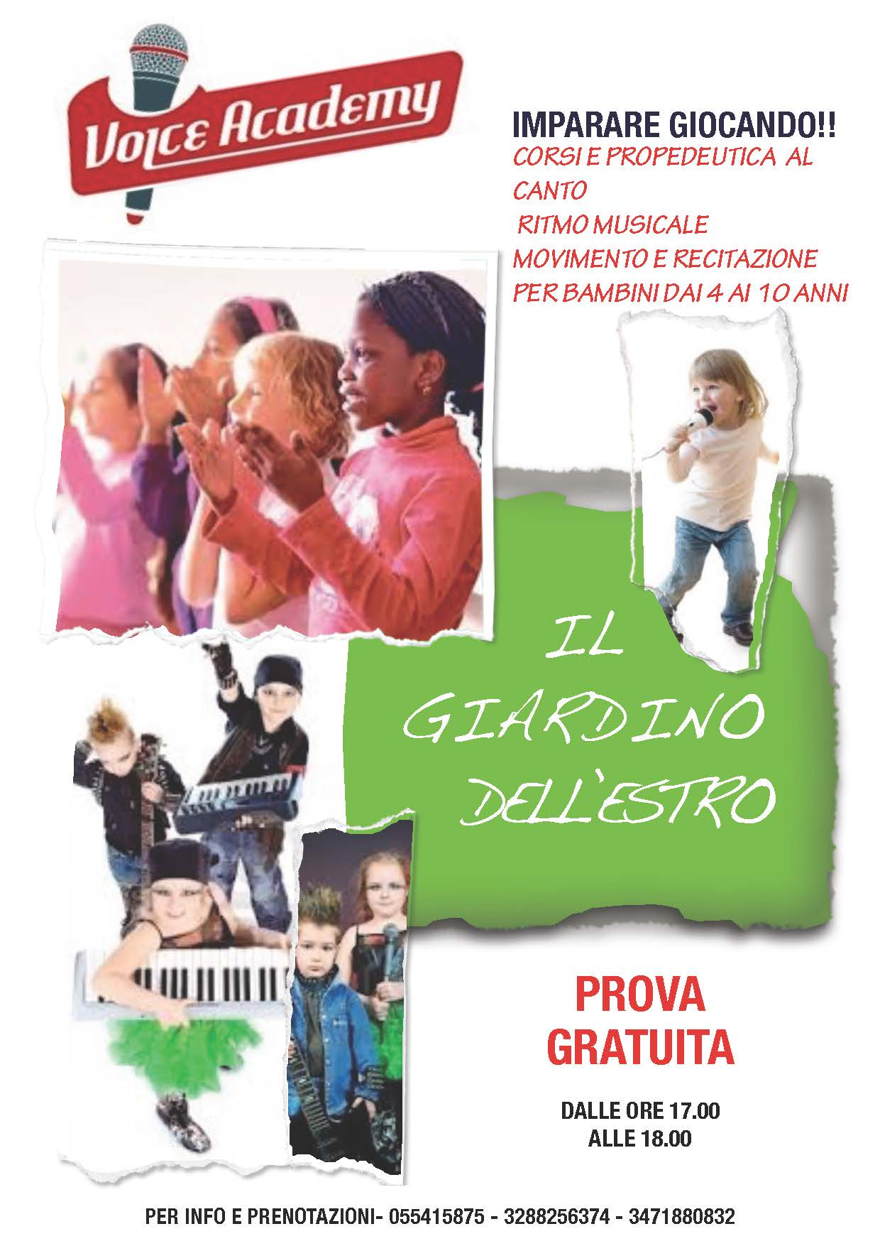 Ai vostri bambini piace cantare? Allora c'è Voice Academy a Firenze