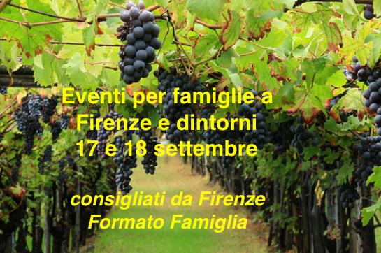 Eventi per famiglie Firenze 17 e 18 settembre 2016