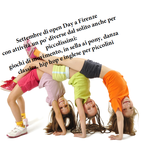"""Settembre di open day a Firenze parola d'ordine, """"proviamo""""!!"""