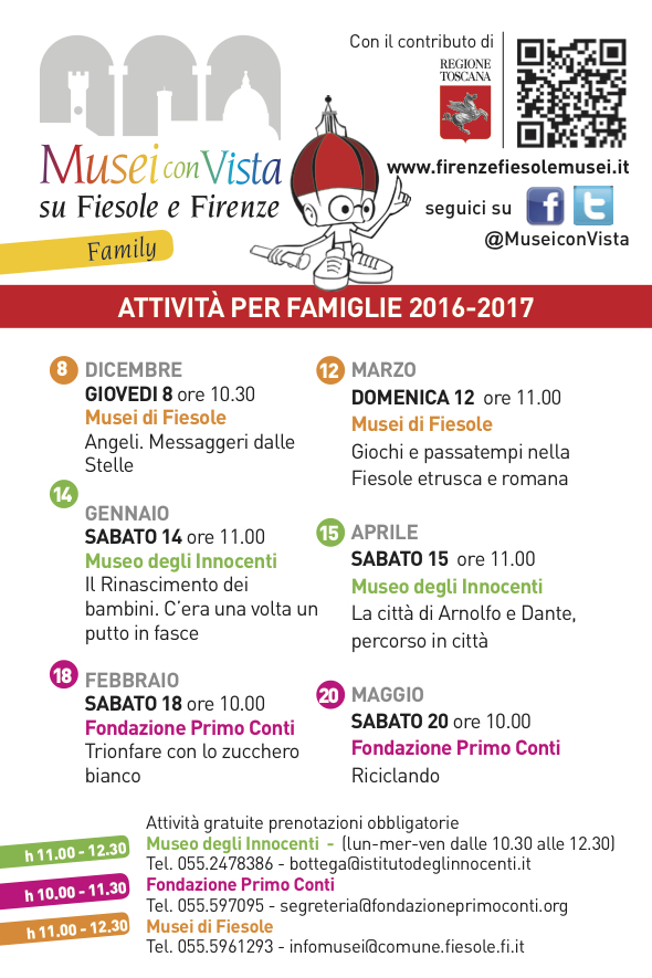 Musei con vista su Fiesole e Firenze il programma 2016-2017