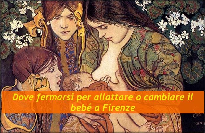 Dove fermarsi per allattare o cambiare il bebé a Firenze