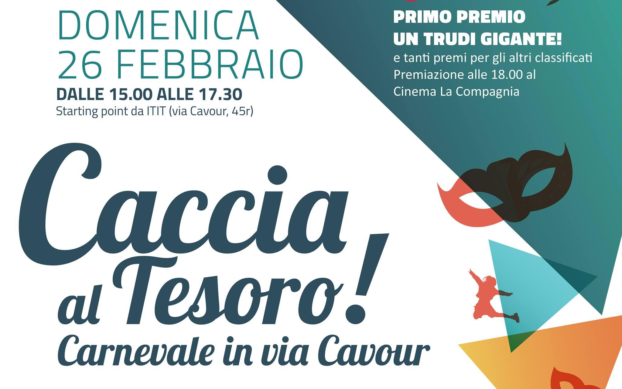 Caccia al tesoro di carnevale gratuita in via Cavour Firenze