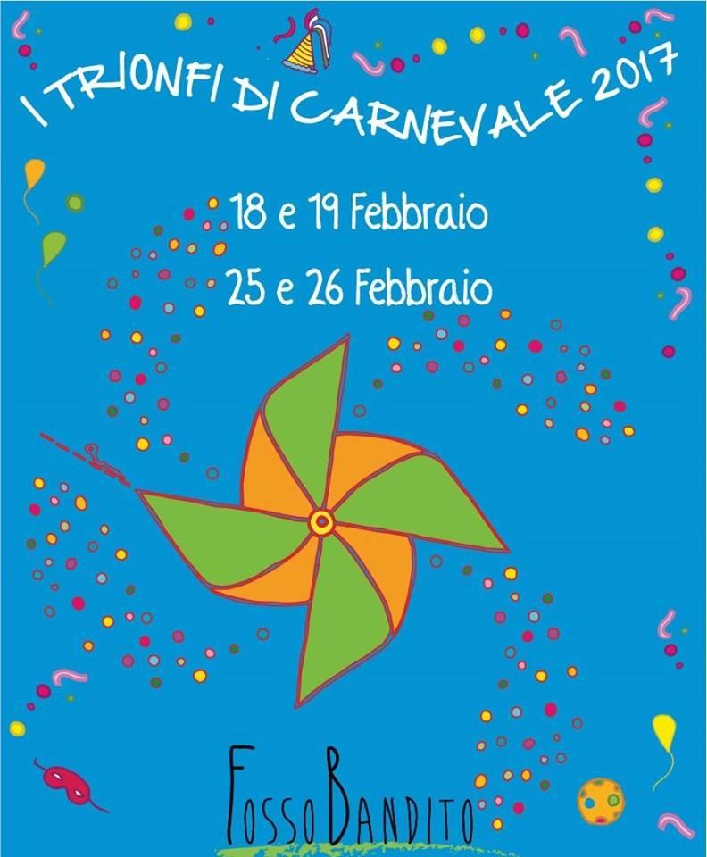 Festa a Fosso Bandito per l'edizione 2017 dei Trionfi di Carnevale