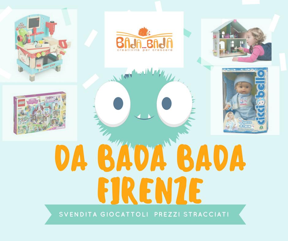 Da Bada Bada Firenze c'è un'offerta sui giocattoli che farsela scappare è da pazzi
