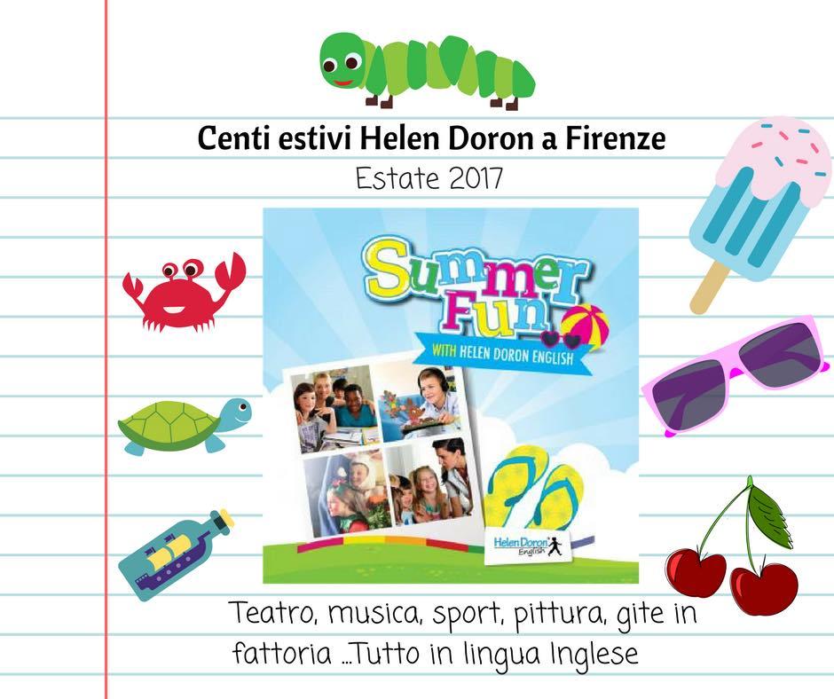 Centri estivi in inglese in 3 sedi a Firenze con Helen Doron