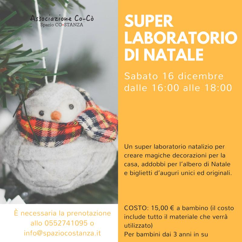 Decorazioni Natale Bambini 3 Anni.Super Laboratorio Di Natale Allo Spazio Co Stanza Firenze Formato Famiglia