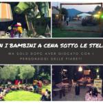 A cena sotto le stelle con i bambini nella campagna vicino a Firenze