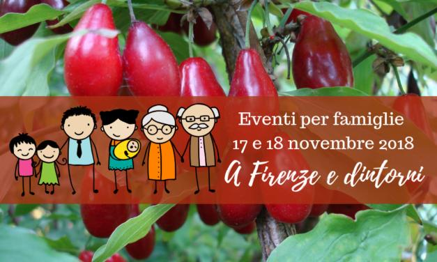 Eventi per famiglie Firenze 17 e 18 novembre 2018