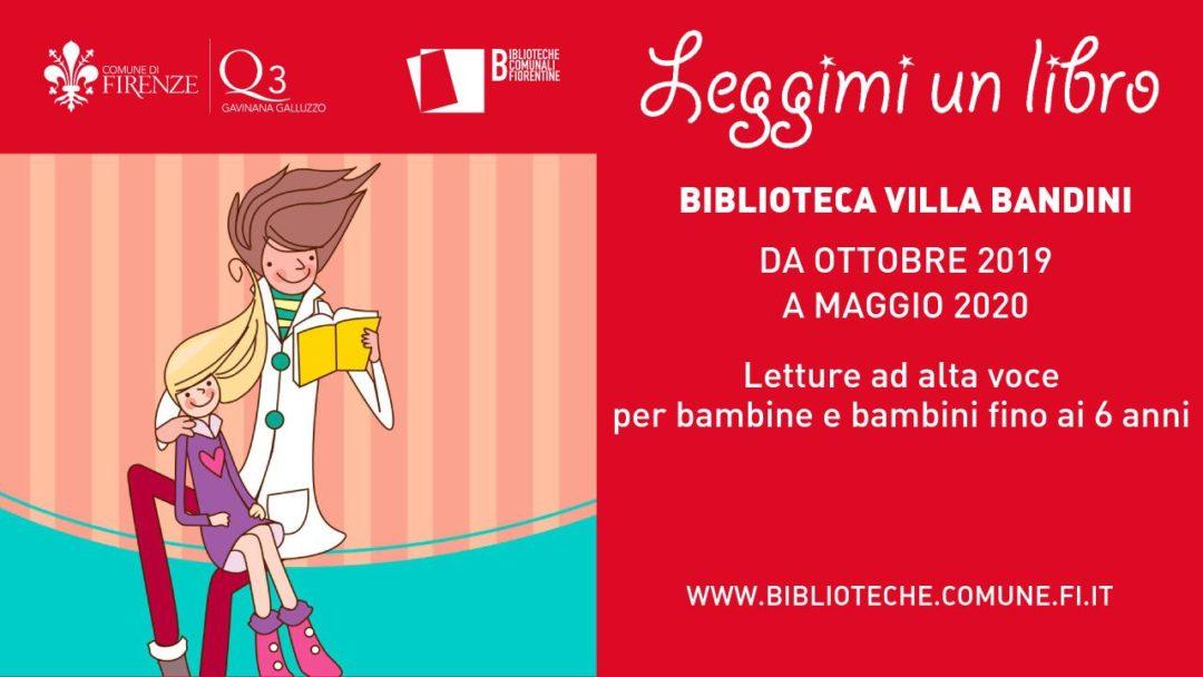 Leggimi un libro letture animate alla Biblioteca Villa Bandini